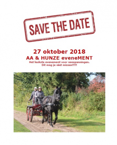 Save the date 27 oktober 2018
